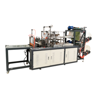 SEMI AUTOMATIC HDPE Two layers disposable transparent pe gloves machine with manual take off